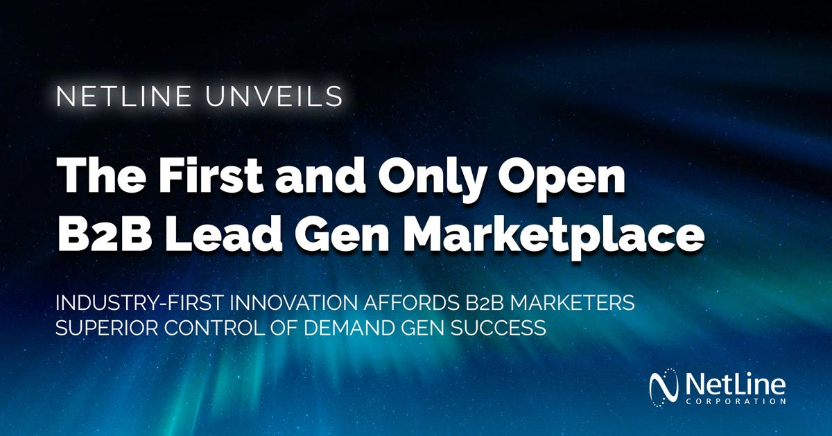 NetLine Unveils the First and Only Open B2B Lead Gen Marketplace